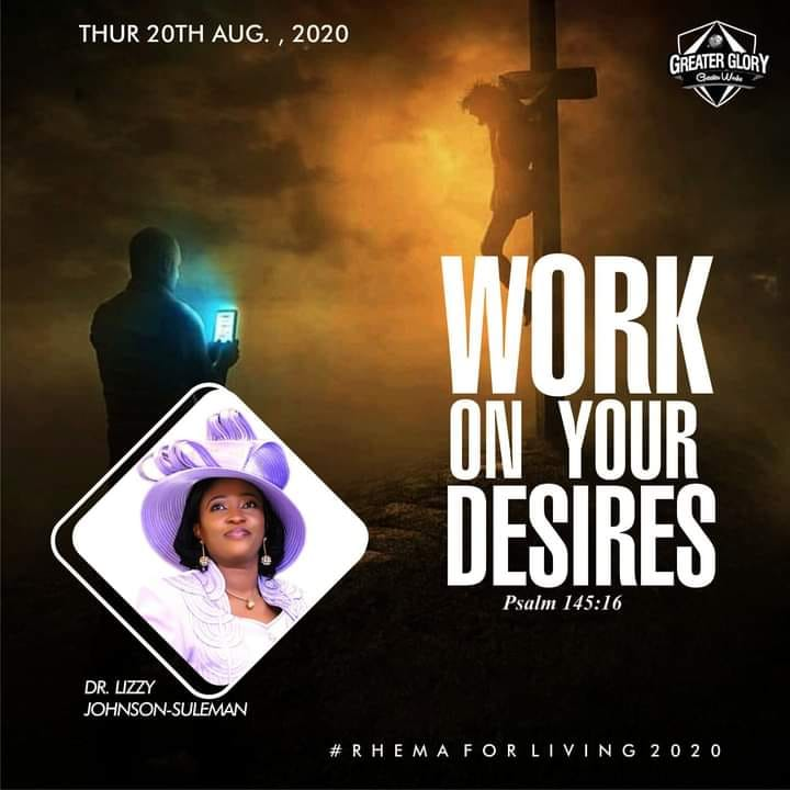Work on your desires